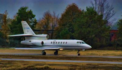 Falcon Digital Art - Rainy Evening Departure by Steven Richardson