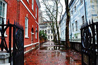 Rain Digital Art - Rainy Philadelphia Alley by Bill Cannon