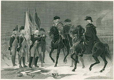 Battle Of Trenton Photograph - Rall Surrenders, Battle Of Trenton, 1776 by Photo Researchers