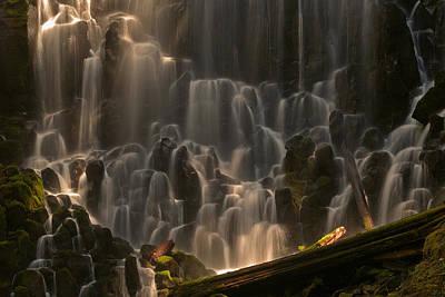 Ramona Falls Or   Print by Ulrich Burkhalter