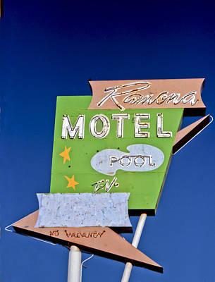 Retro Photograph - Ramona Motel by Matthew Bamberg