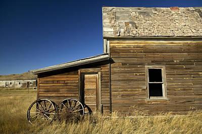 Ranchers House In Prairie Semi-ghost Print by Pete Ryan