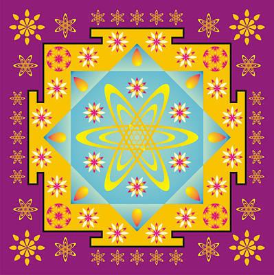 Rangoli Digital Art - Rangoli Mandala by Steeve Dubois