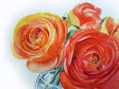 Ranunculus Painting - Ranunculus by Irina Sztukowski