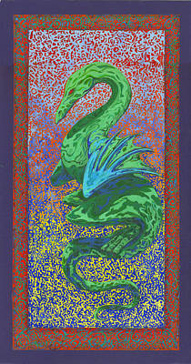 Western Dragon Painting - Raphael by Rick  Russell