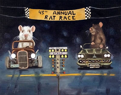 Rat Race Darker Tones Original by Leah Saulnier The Painting Maniac