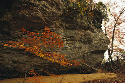 Raven Rock, Trail, And Autumn Colored Print by Raymond Gehman