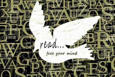 Avacados Mixed Media - Read Free Your Mind Avacado by Angelina Vick
