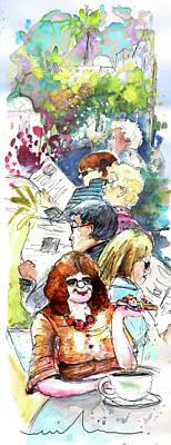 Reading The News 08 Print by Miki De Goodaboom