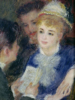 Rehearsal Painting - Reading The Role by Pierre Auguste Renoir
