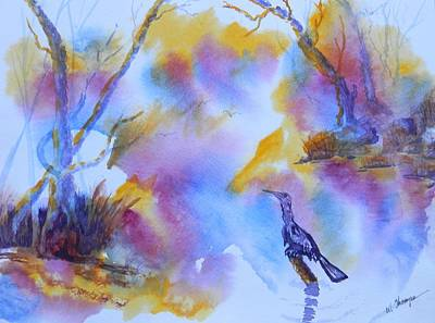 Anhinga Painting - Ready To Hunt by Warren Thompson