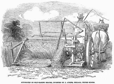Reaper, 1853 Print by Granger