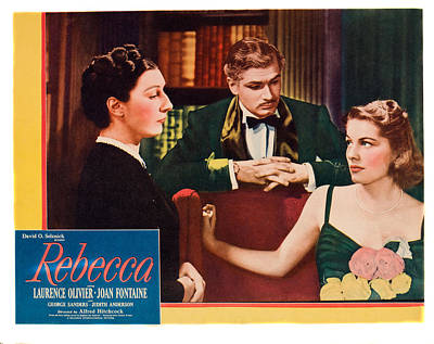 Films By Alfred Hitchcock Photograph - Rebecca, From Left Judith Anderson by Everett