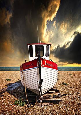 Trawler Photograph - Rebecca by Meirion Matthias