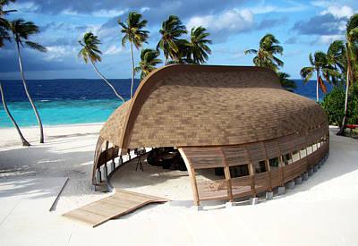 Tropical Photograph - Reception Dhoni. Maldives by Jenny Rainbow