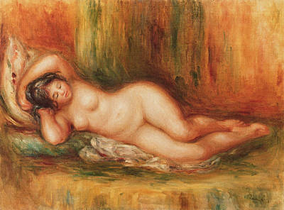 Reclining Bather Print by Pierre Auguste Renoir
