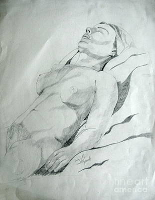 Reclining Nude Print by Julie Coughlin