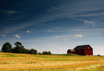 Red Barn Print by Cale Best