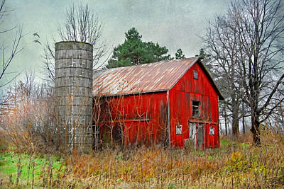 Red Barn Print by Mary Timman