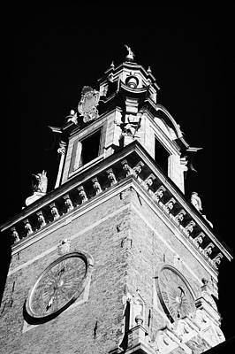 Polish City Photograph - red brick Wawel cathedral clock tower at the entrance to Wawel Castle Krakow by Joe Fox