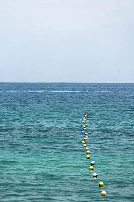 Separation Photograph - Red Buoy by Daniel Kulinski