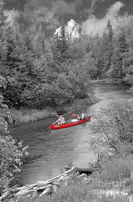 Red Canoe Print by Jim Wright