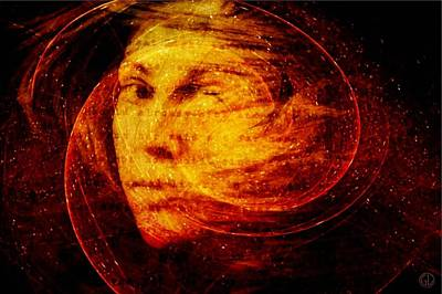 Despair Digital Art - Red Chaos by Gun Legler