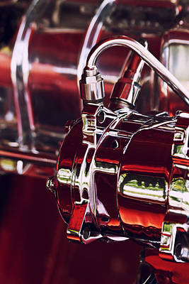 Car Photograph - Red Chrome Reflections by Lauri Novak