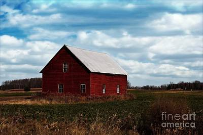 White House Mixed Media - Red Counrty Barn by Ms Judi