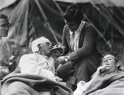 Red Cross Worker Miss Anna Rochester Print by Everett