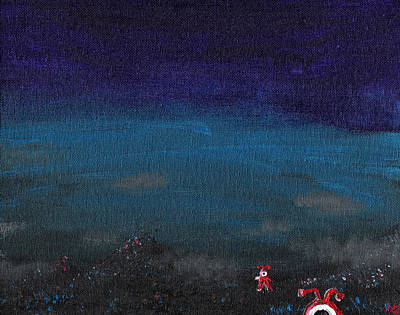 Cyclops Painting - Red Cyclops Range by Jera Sky