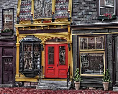 Red Door On Belvue Print by Boyd Alexander