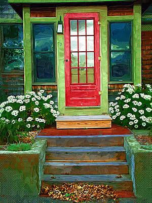 Red Door Print by Susan Lee Giles