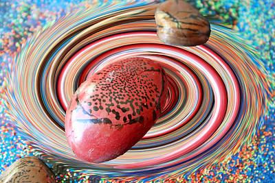 Macrocosm Photograph - Red Galaxy by Augusta Stylianou
