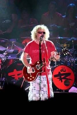 Van Halen Photograph - Red Gibson by Dennis Jones