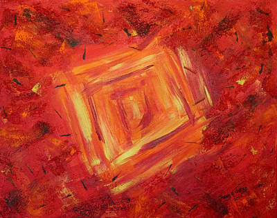 Abstract Painting - Red Haze by Tracey R Gates