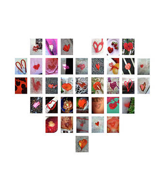 Digital Art - Red Hearts by Boy Sees Hearts