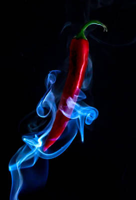 Red Hot Smokin Chili Pepper Print by Ian Hufton