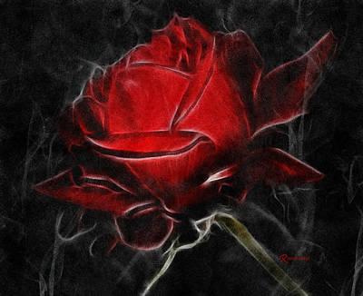 Red And Hot  Print by Georgiana Romanovna