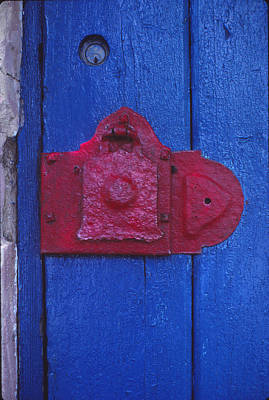 Red Latch Print by Bob Whitt