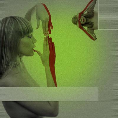 Red Paint Print by Naxart Studio