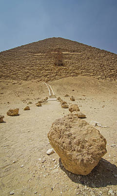 Red Path Of Red Pyramid Print by © Marc Mateos