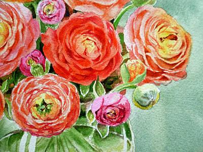 Red Pink And Gorgeous Print by Irina Sztukowski
