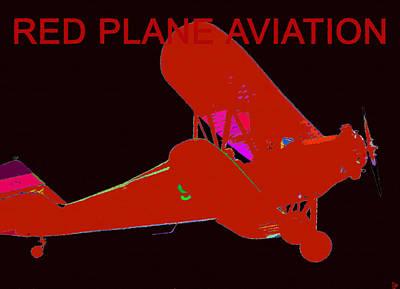 Passenger Plane Painting - Red Plane Aviation by David Lee Thompson
