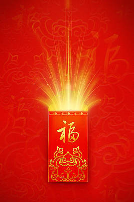 Red Pocket For Chinese New Year Print by BJI/Blue Jean Images