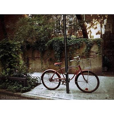 Bicycle Photograph - Red Rambler On Commerce Street by Natasha Marco