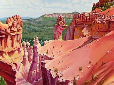 Phil Hopkins Painting - Red Rock Landscape by Phil Hopkins