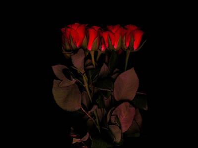 Red Roses 3 Original by Jessica Velasco