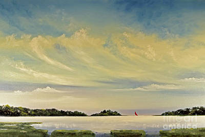 Red Sails Print by Diana  Tyson
