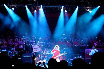 Van Halen Photograph - Red Sam Blue by Dennis Jones